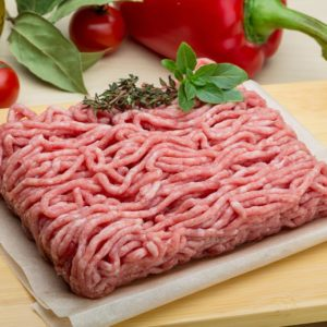 Raw Minced meat with herbs and spices