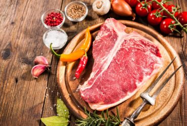T-BONE STEAKS WITH SHALLOT BUTTER